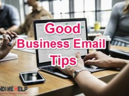 Good Business Email Tips And Format in Hindi