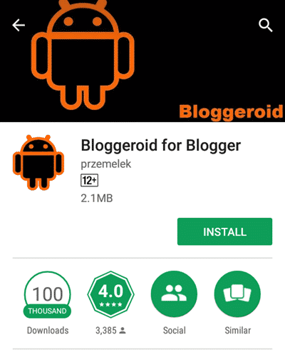 bloggeroid for blogger android app