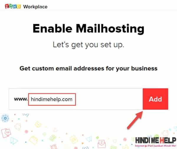 zohomail me domain add kare mail hosting enable kare