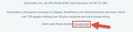 unwanted email unsubscribe kare