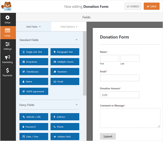 How to Make WordPress Donations with WPForms - tegory%