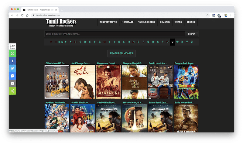 Tamilrockers.com Download Latest Tamil, Telugu & Malayalam Hindi Dubbed Movies Free! - Entertainment